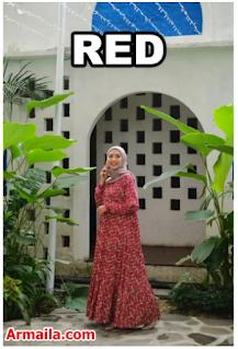 Wearmoura Kinara Dress - Red, Mustard, Navy & Blue  ARMAILA