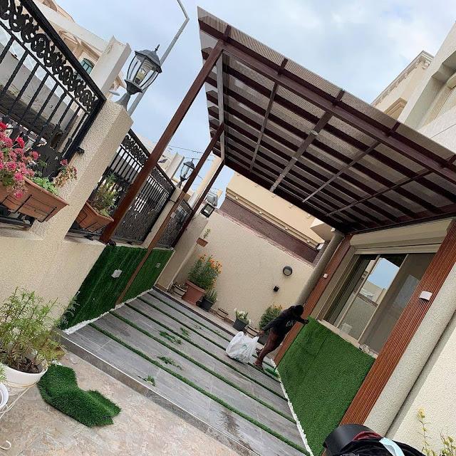 تركيب العشب الجداري في سلطنة عمان