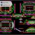 مخطط مجمع رياضي مغطى اوتوكاد dwg