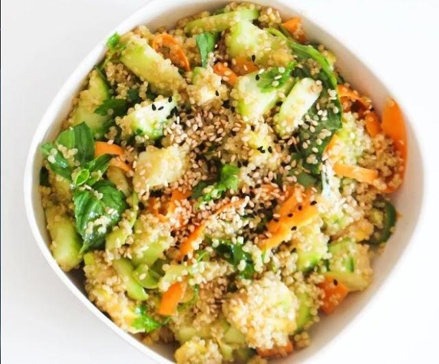 Avocado Quinoa Salad #vegan #salad
