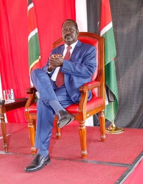 Raila Odinga photo on BBI