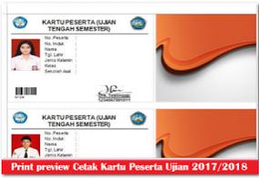 Download Aplikasi Cetak Kartu Peserta Ujian Sekolah (UTS UAS UKK dan UN) 2017/2018