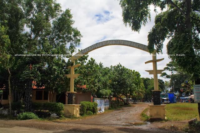 Gerbang Pantai Sindangkerta Tasikmalaya.