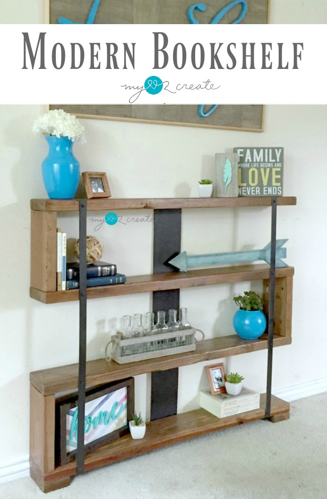 How to make a modern bookshelf using an easy to follow picture tutorial at MyLove2Create!