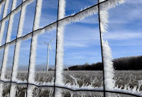 Fences and fields are covered with frost near the A6 highway, also known as the ''Autoroute du Soleil (Highway of the Sun) near Dijon, France January 6, 2015 (Credit: Reuters/Yves Herman) Click to Enlarge.
