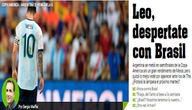 """Brazil gọi, Argentina trả lời: Báo nhà """"hù dọa"""" đối thủ, dấu hỏi Messi 4"""