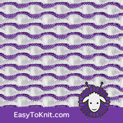 Textured Knitting 27: Waves | Easy to knit #knittingstitches #knittingpattern