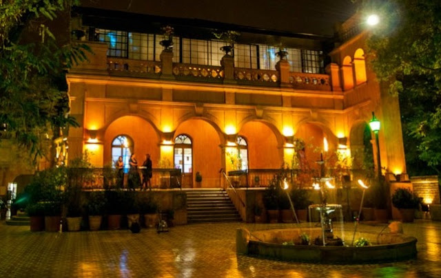 Ano Novo no Castelo Hidalgo em Santiago do Chile