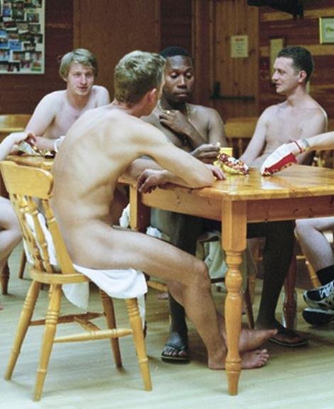 Parties sitting around naked