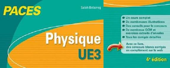 Télécharger | PACES  Physique UE3 avec QCM & Exercices Corrigés et Commentés PDF