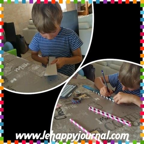 DIY, flute de pan, activité vacances, happy journal