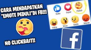 Cara Menggunakan Emote Peduli di Facebook