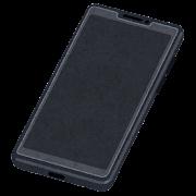 保護フィルムの貼られたスマートフォンのイラスト
