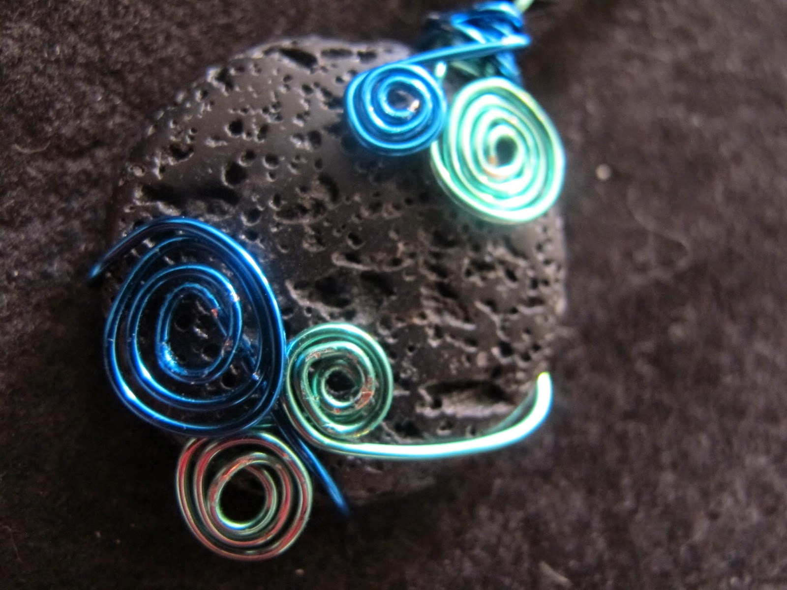 Naomi S Designs Handmade Wire Jewelry Wire Wrapped Spiral Lava