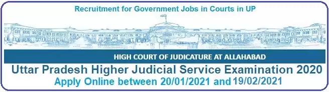 Uttar Pradesh Higher Judicial Service Examination 2020