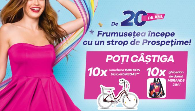 Concurs Discreet - Castiga 10 vouchere de 1500 RON pentru achizitionarea unei biciclete Pegas - castiga.net