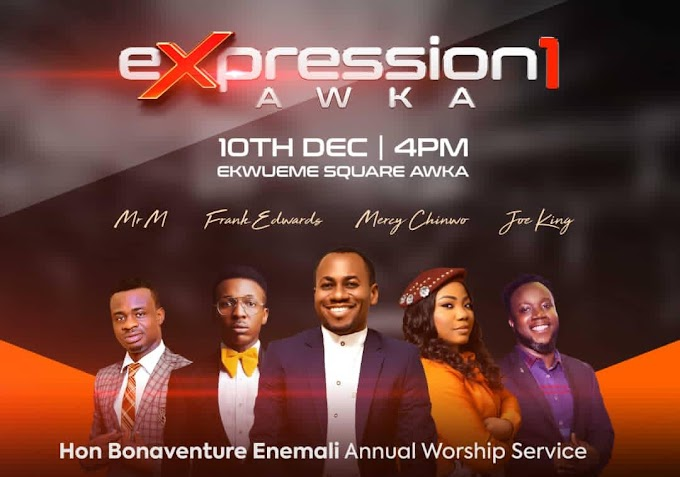 "Anambra Commissioner Hon. Enemali Set To Host Annual Worship Service Tagged "" Expression1"""