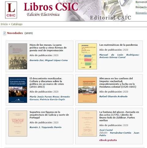 500 libros gratuitos del Consejo Superior de Investigaciones Científicas en formato digital