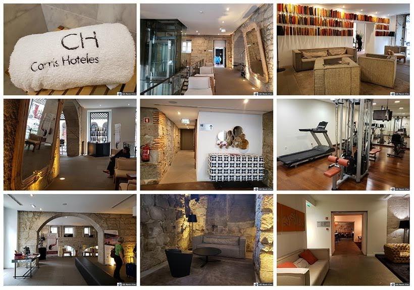Estrutura do Hotel Carris Porto Ribeira: onde ficar no Porto