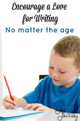 Encourage writing no matter the age