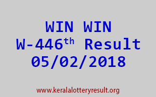 WIN WIN Lottery W 446 Results 05-02-2018