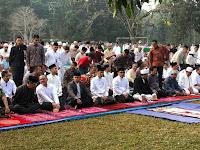 Presiden Jokowi Salat Idul Adha di Lapangan Astrid Kebun Raya Bogor