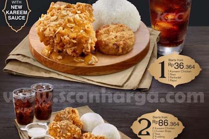 KFC Program Menu Baru COMBO KAREEM CHICKEN Harga Mulai Rp.36.364
