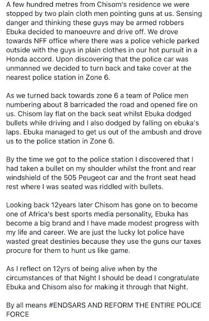 The full story of how Ebuka and his friends narrowly escaped death at the hands of police officers in 2005