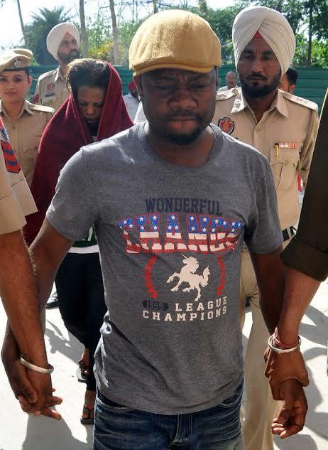 nigerian man ugandan girlfriend arrested heroine delhi india