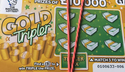 £1 Gold Tripler National Lottery Scratchcard