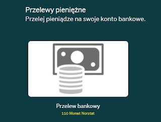 NorstatPanel, przelew bankowy.