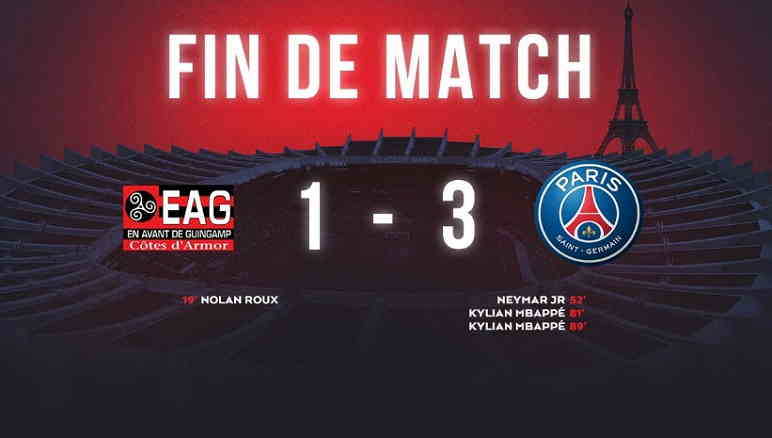Hasil Guingamp vs Paris Saint Germain Skor Akhir 1-3 [ Ligue 1 2018]