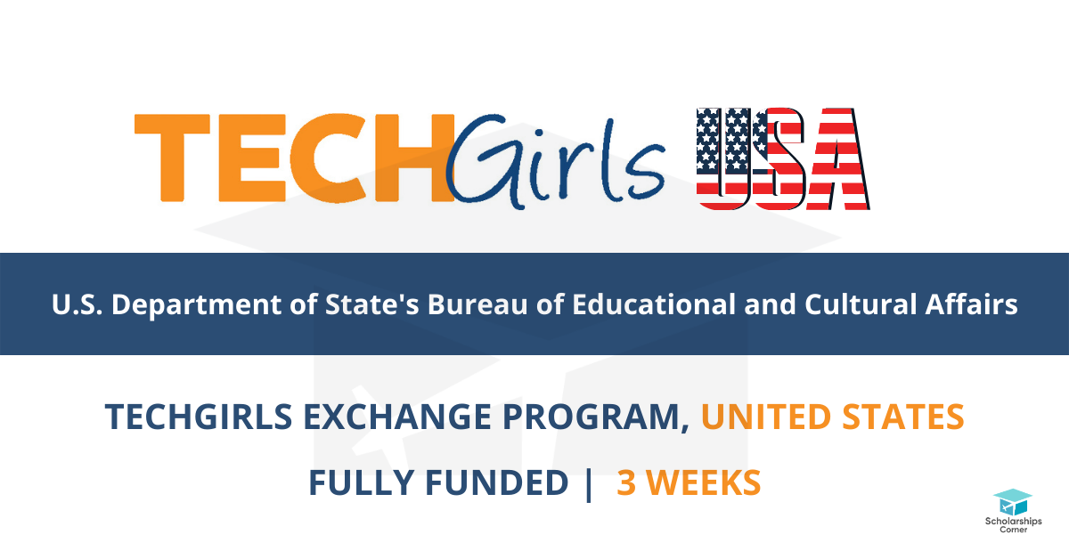 US Government TechGirls Programme 2021 for Young Women in STEM (Fully-funded)