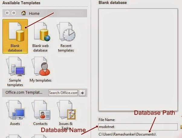 blank database