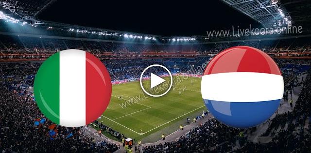 موعد مباراة هولندا وايطاليا بث مباشر بتاريخ 07-09-2020 دوري الأمم الأوروبية