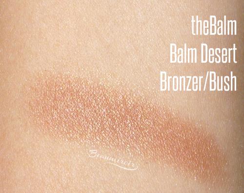 theBalm Balm Desert Bronzer/Blush: swatch