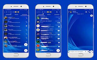 Blue Abstract Theme For YOWhatsApp & Fouad WhatsApp By Leidiane