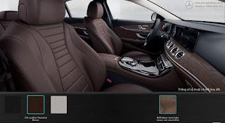 Nội thất Mercedes E200 2018 màu Nâu Hazelnut 214