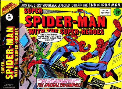 Super Spider-Man with the Super-Heroes #198. the Jackal meets his fate