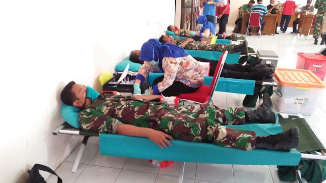 Anggota Koramil Pedan sumbangkan Darahnya demi kemanusiaan