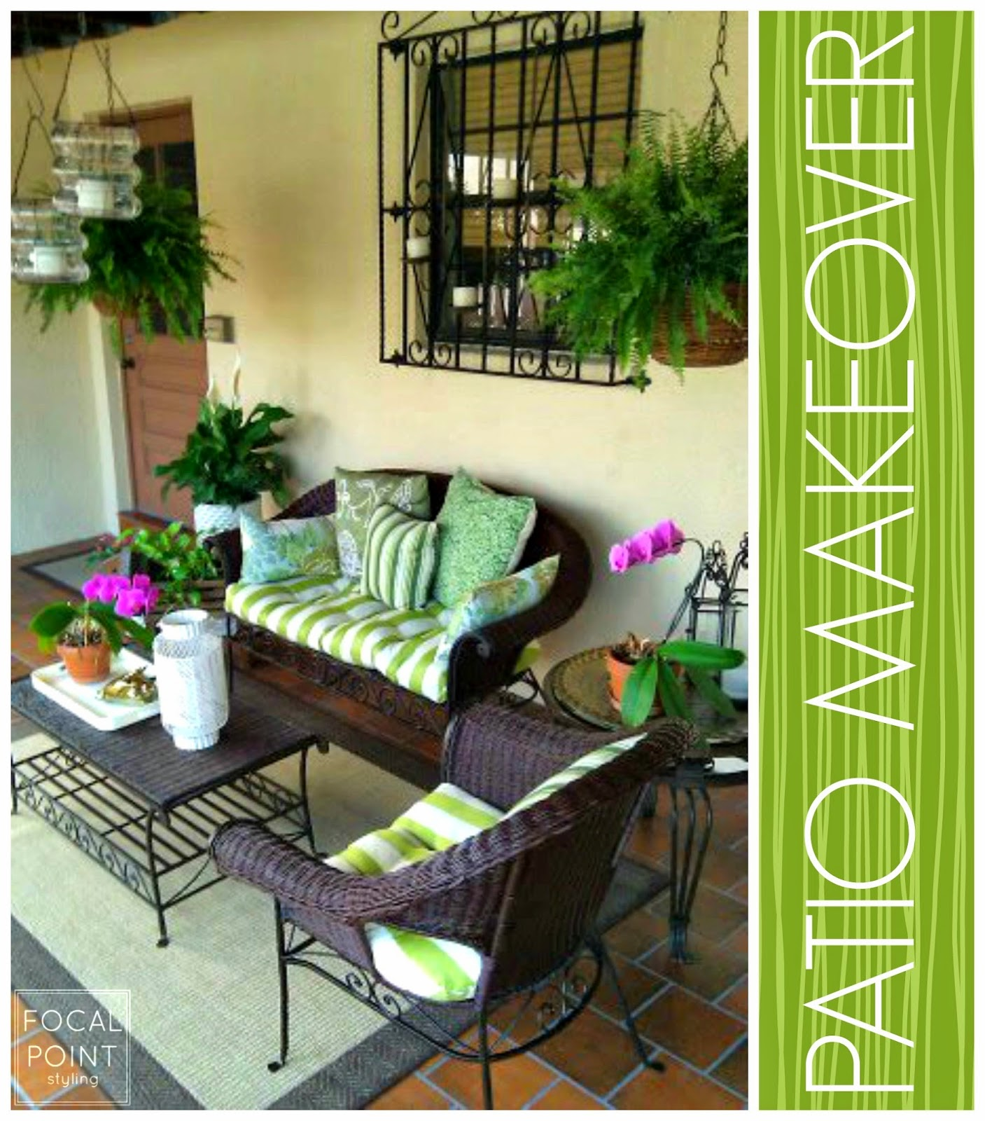 FOCAL POINT STYLING: MIXING OLD & NEW FOR A PATIO MAKEOVER