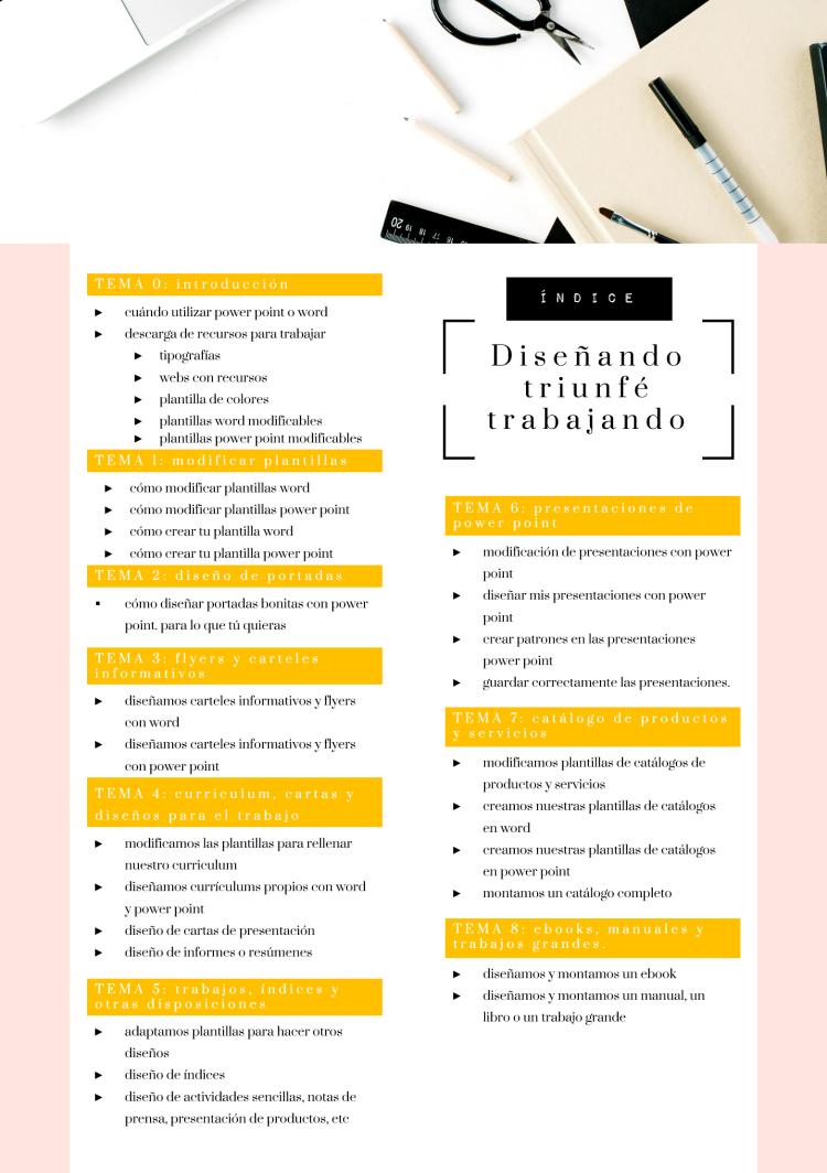 Creative Mindly: CURSO: DISEÑANDO DISEÑANDO TRIUNFÉ TRABAJANDO