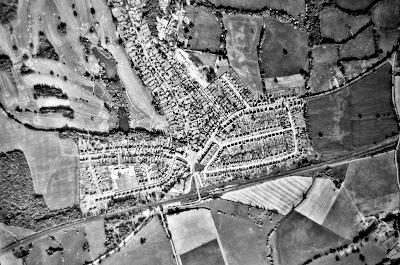 Aerial photograph of Brookmans Park taken in the 1960s Image from the North Mymms Local History Society part of the Peter Miller collection