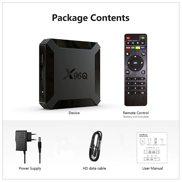 Best X96Q TV Box Android 10.0 Iptv Box X96Q 1G 8G 2G 16G Allwinner H313 smart ip tv set top box ship from France