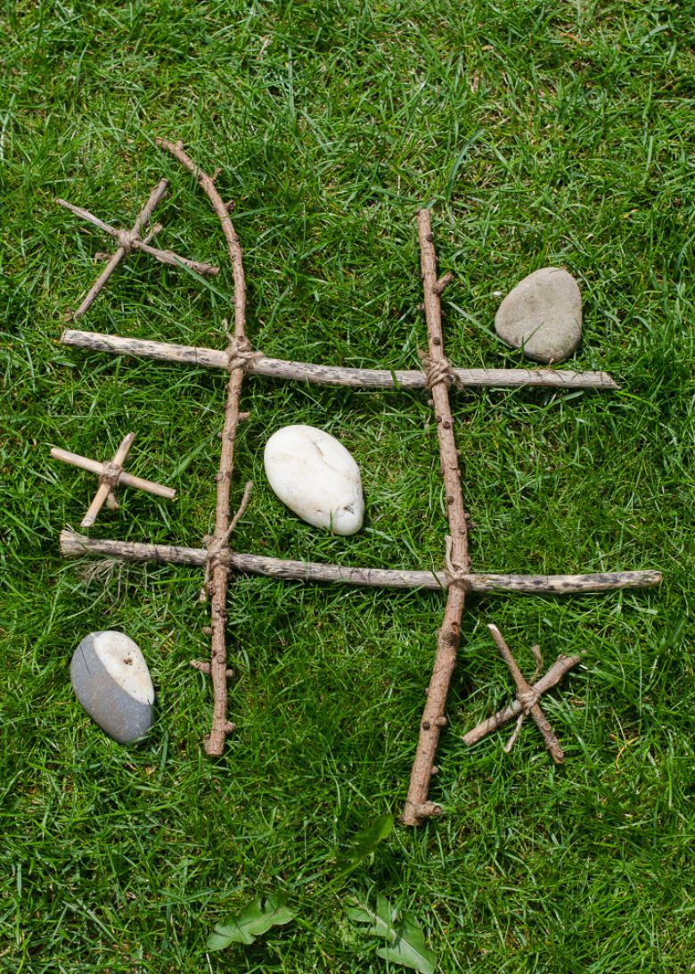 nature tic tac toe summer activities for preschoolers