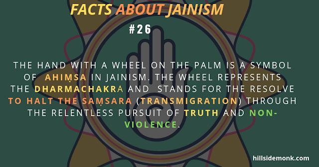 symbol of  Ahiṃsa in Jainism.s ahiṃsa(non-violence) dharmachakra