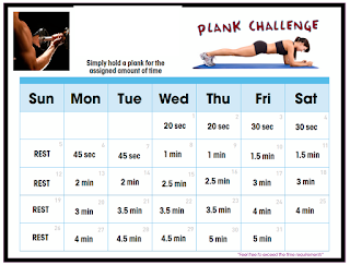 Plank exercise challenge