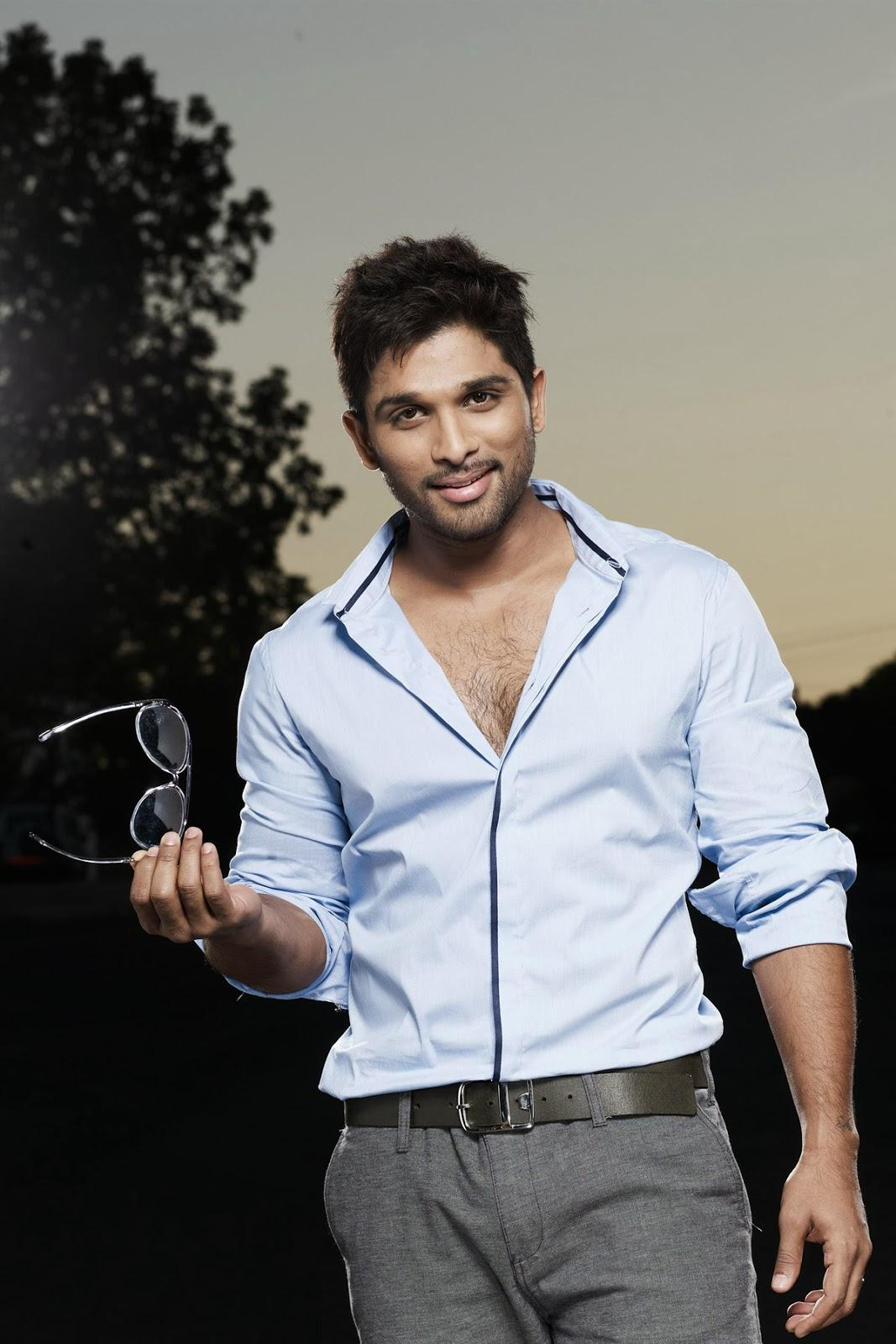 Allu Arjun with gogles