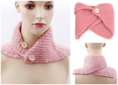 Cuellos-Bufandas tejidas inspiración