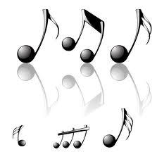 notas musicales grandes y pequeñas